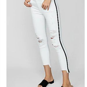 NWT Express Cropped Leggings Mid Rise White Jeans